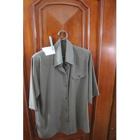 = Roupa Lote 623 Mulher Camisa Social 4 Cinza Curta