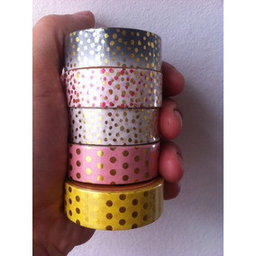 Washi Tape Dourada Poás Metalizadas Golden Foil