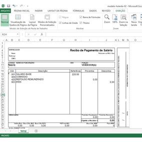 Holerite 100% Editável Excel Frete Grátis Envio Email M2