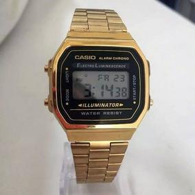 4a01b850bfd Relogio Retro Casio Preto E Dourado Original - Relógios De Pulso no ...