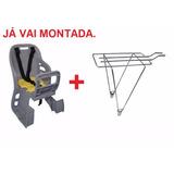 Cadeirinha Infantil P/ Bicicleta Traseira+bagageiro Aro 26