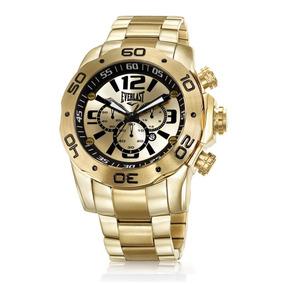 Relógio Everlast Masculino Dourado Analógico E545 Promoção