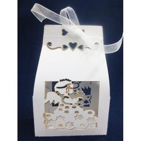 10 Caixa De Papel Branca Anjo Primeira Comunhão