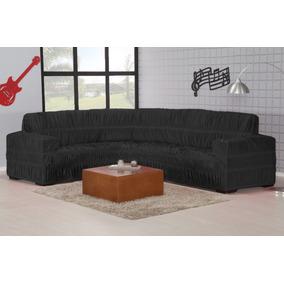 Capa De Sofa De Canto P Até 6 Lugar Elasticada Em Malha Gel