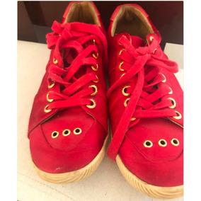 Tênis Osklen Vermelho E Dourado