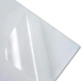 100 Adesivos Vinil Sublimáticos Transparentes Sublimação A4