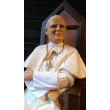 Papa Juan Pablo Segundo Imagen En Alabastro