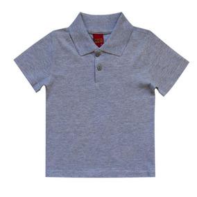 Camisa Infantil Menino Gola Polo Mescla White Kyly ad6145331f919
