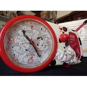 Relógio Com Rádio Fm Da Coleção Disney (101 Dalmatas)