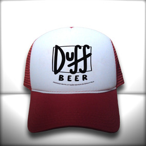 85ee9c9c28b50 Boné Duff Beer Logo Vermelho E Branco Trucker Frete Grátis