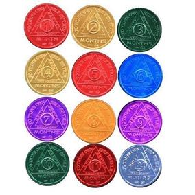 Conjunto De 12 Recuperación Aa Medallón /monedas Bsp
