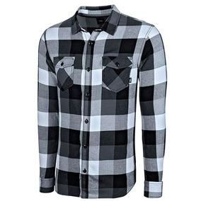 Camisa Box Fiannel Vn-000j0gbht Gris-negro Caballero Pv