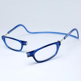 fdf7726833da8 Armação Óculos Leitura Clikko Azul Com Imã-prático moderno