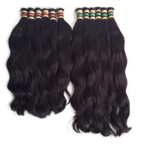 Cabelo Humano Mega Hair Natural Ondulado 70/75cm -100gr