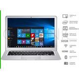 Notebook Intel Windows 10 Hdmi Plateada 14 Pulgadas + Funda