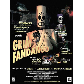 Pôster Video Game Adventures Lucas Arts Grim Fandango # 01