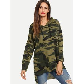 Blusón Camuflaje Militar Blusas Dama Ropa Mujer Sudaderas