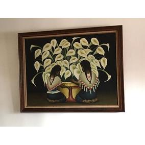 Cuadro Al Oleo Vendedora Diego Rivera Decoración Regalo Casa