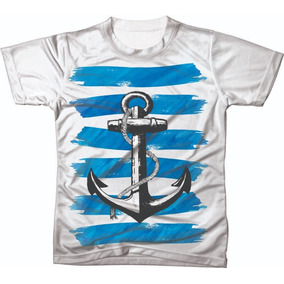 Camiseta Camisa Blusa Ancora Personalizada Ref 01 db34ef4f42f65