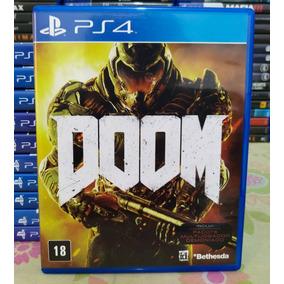 Doom Ps4 - Jogo Mídia Física Original Em Português Do Brasil