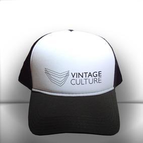 efce05f86a731 Boné Vintage Culture Preto E Branco Trucker Frete Grátis. R  65 99