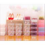 Oferta Envío Gratis!! Caja Plástica Organizador 12u Zapatos