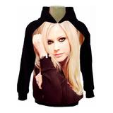 Casaco Raglan Moleton Moletom Cantora Rock Avril Lavigne Md6