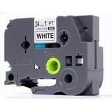Fita Compativel Tze Tz2-651 Rotulador Brother Preto 24mm