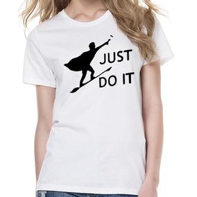 Playera Nike + Harry Potter Just Do It Logo Varita Escoba
