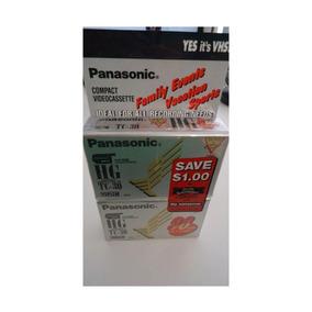 Fita Vhsc Panasonic Para Filmadora 2 Unidades Nv-tc30h2ct