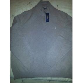 Ralph Lauren Sweater Hombre Cafe Claro Merino/cash Talla Xxl