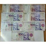 Lote De Billetes De 100 Pesos Convertibles 1 Diseño Y Leyend