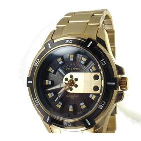 e1b0e301c26 Relógio Atlântico Dourado Ouro - Relógios no Mercado Livre Brasil