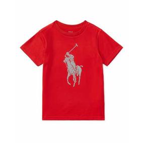 d25718ccb1973 Playera Roja Niños Ralph Lauren Para Niño 2 Años 2t Camisa