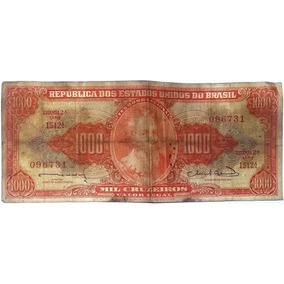 Nota Antiga 1000 Cruzeiros - Rara.