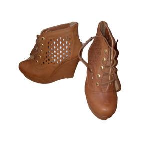 558d3411344 Botines Cafe Miel Sin Tacon Plataformas Mujer - Zapatos en Mercado ...