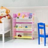 Niños Habitación Linda Esquina Ajustable Estante Librer-9667