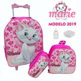 Kit Mochila Infantil Marie + Lancheira + Estojo Jr