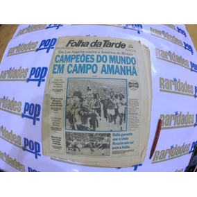 Grêmio Campeão Do Mundo 1983 Jornal Folha Da Tarde Original