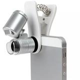 Clip Lupa Microscopio Celular Universal Zoom 60x Led L1007