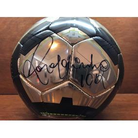 Balón Firmado Ronaldinho Nike T90 Chrome Leer Descripción 54402ff6192