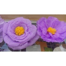 Flores De Papel Decoracion Para Fiestas En Mercado Libre Mexico