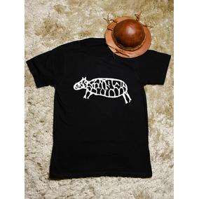 Camiseta Masculina   Serra Da Capivara - Preta 100% Algodão