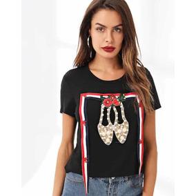 Camiseta Con Diseño De Perla Con Cintas