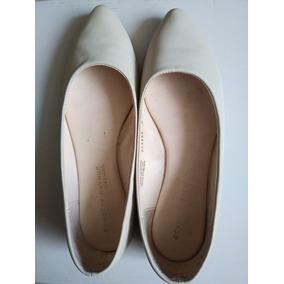 Zapatos Flats 5 1/2 Color Hueso Dorothy Gaynor