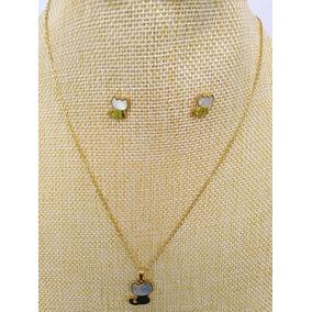 d559b65b3851 Collares Zarcillos Perlas Oro Laminado - Joyería en Mercado Libre Chile