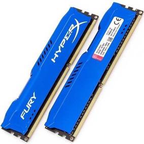 Mem Ram Kingston Ddr3 4gb 1600mhz Hyperx Fury Azul/preta