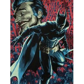 Poster Sideshow Dc Batman Autografado P/ Brandon Peterson