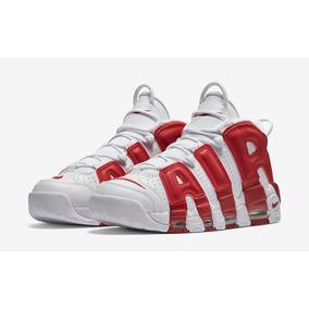 watch e1103 e6f86 Zapatillas Nike Air More Uptempo Gym Rojo Blanco Nuevo