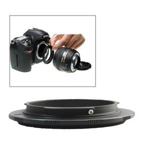 52 Reversing Ring Para Nikon Camara Black